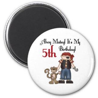 Ahoy Matey Pirate 5th Birthday Magnet