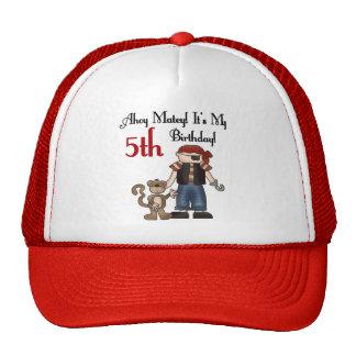 Ahoy Matey Pirate 5th Birthday Trucker Hat