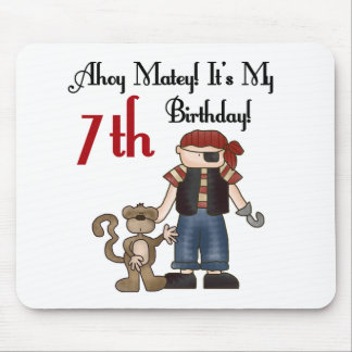 Ahoy Matey Pirate 7th Birthday Mouse Pad