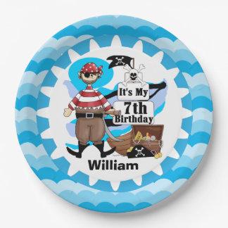 Ahoy Matey Pirate 7th Birthday Paper Plates