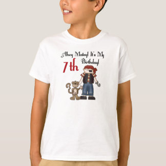 Ahoy Matey Pirate 7th Birthday T-Shirt