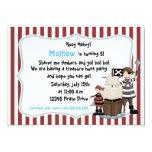 """Ahoy Matey -Pirate birthday party invitation-r n w 5"""" X 7"""" Invitation Card"""