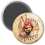 Ahoy Matey Pirate Fridge Magnets