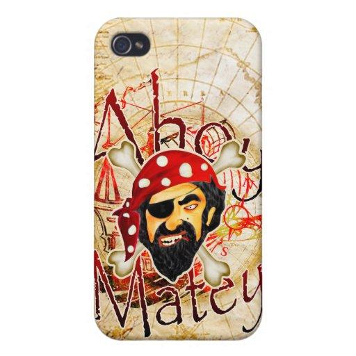 Ahoy Matey Pirate iPhone 4 Case