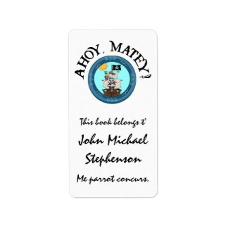 Ahoy Matey Pirate Label Labels