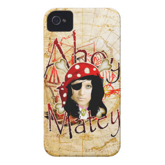 Ahoy Matey Pirate photo iPhone 4 Cases