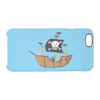 ahoy matey pirate ship uncommon clearly™ deflector iPhone 6 case