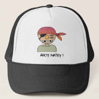 Ahoy Matey Pirate Trucker Hat