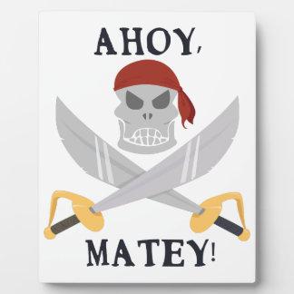 Ahoy Matey Photo Plaque
