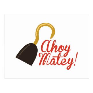 Ahoy Matey! Postcard