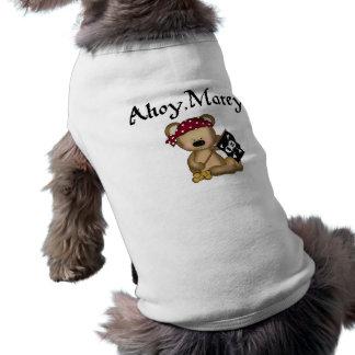 Ahoy Matey Teddy Bear Pirate Dog Shirt Dog Clothing