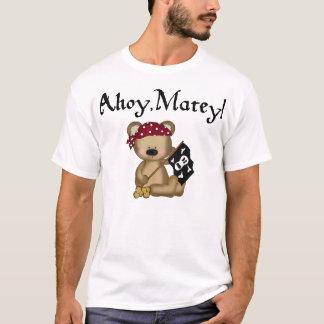 Ahoy Matey Teddy Bear Pirate Girls Shirt