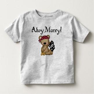 Ahoy Matey Teddy Bear Pirate Toddler Shirt