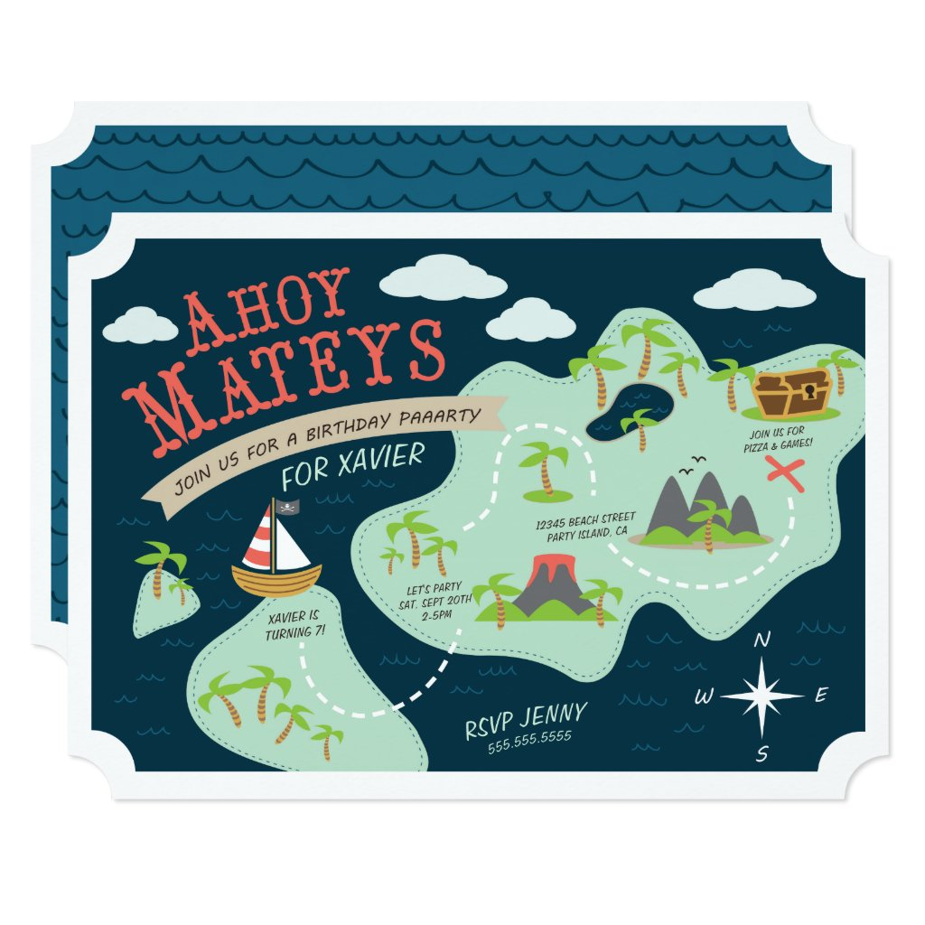Ahoy Mateys Birthday Invite