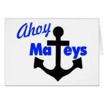 Ahoy Mateys con el ancla Felicitacion