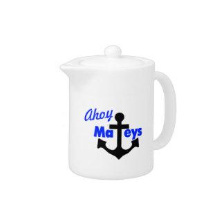 Ahoy Mateys With Anchor Teapot