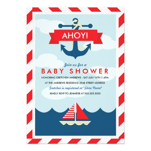 Personalized Pirate Baby Shower Invitations Custominvitations4u