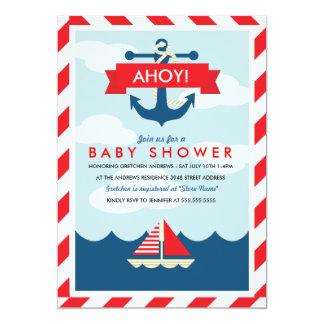 Ahoy! Nautical Baby Shower Invitation