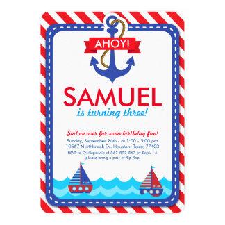 AHOY! Nautical Birthday Party Invitation