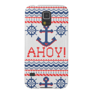AHOY Nautical Knit Christmas Jumper Style Galaxy S5 Cover