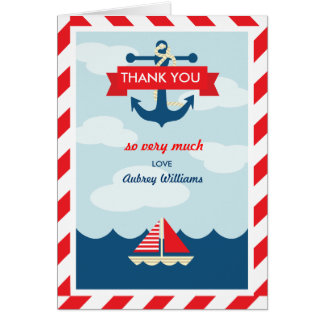 ¡Ahoy! Náutico gracias cardar Felicitaciones