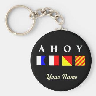 Ahoy Personalized Keychain