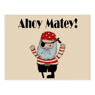 Ahoy pirata afable tarjetas postales