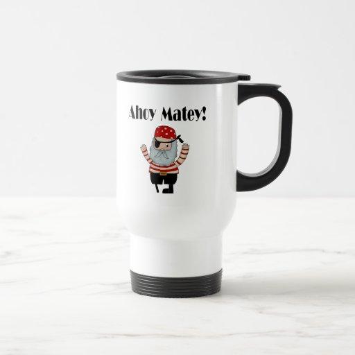 Ahoy pirata afable taza de café