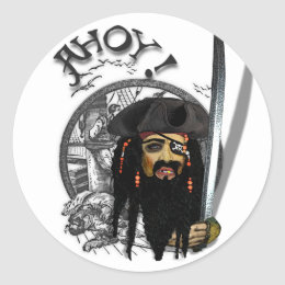 AHOY  ! pirate day Classic Round Sticker