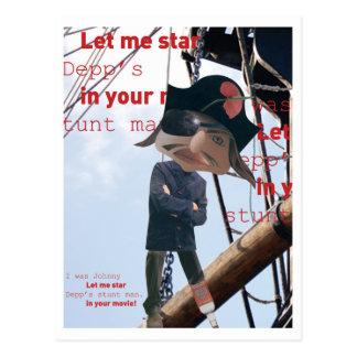 Ahoy pirate! postcard