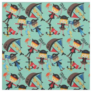 Pirate ship fabric zazzle for Kids pirate fabric