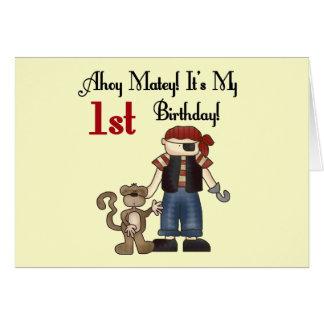 Ahoy primeras camisetas y regalos del cumpleaños d felicitación