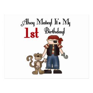 Ahoy primeras camisetas y regalos del cumpleaños d tarjeta postal