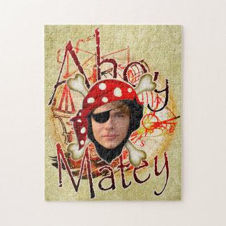 Ahoy rompecabezas afable de la foto del pirata