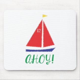 Ahoy! Sailboat design Mouse Pad