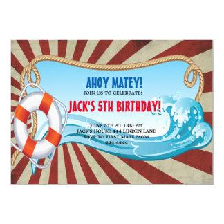 AHOY SAILOR BIRTHDAY PARTY INVITATIONS