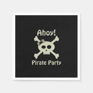 ¡Ahoy! Servilletas de papel del fiesta lindo del