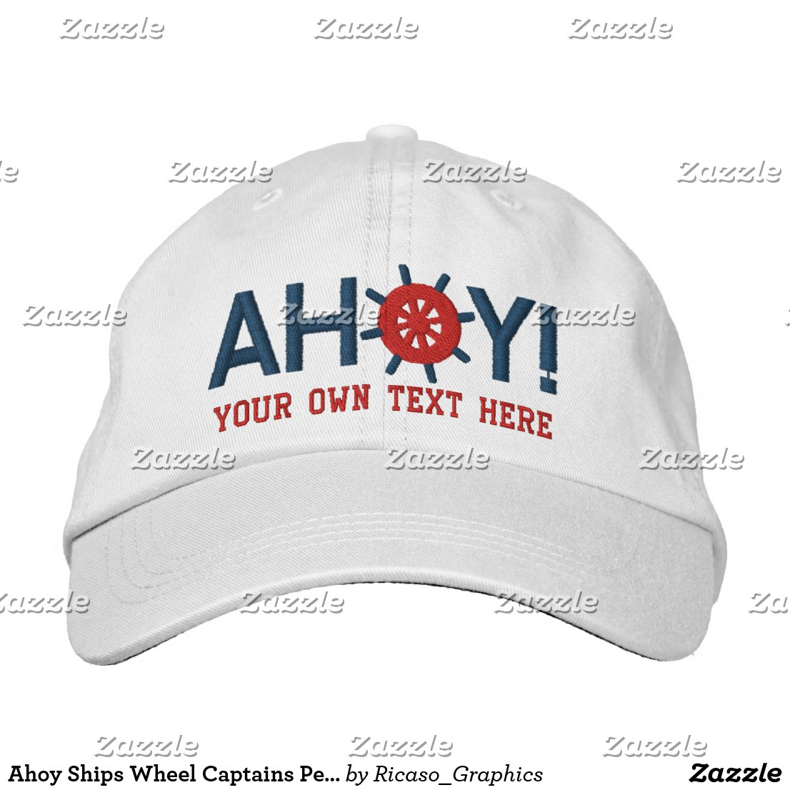 Ahoy Ships Wheel Captains Personalized