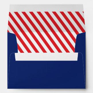 ¡Ahoy! Sobres azules y rojos náuticos