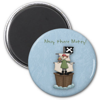 Ahoy There Matey!      Pirate Party Fridge Magnets