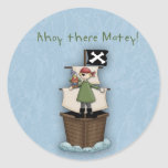 Ahoy There Matey!      Pirate Party Sticker