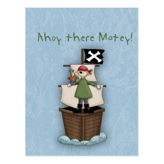 Ahoy There Matey!  Postcard Invite