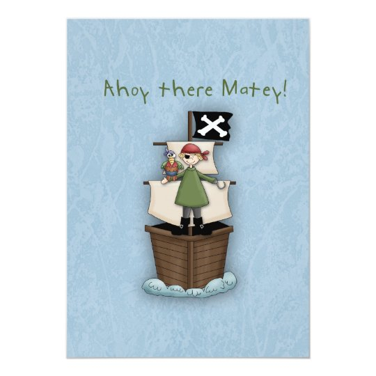 Ahoy There Matey Thank you note Card