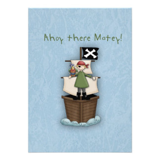 Ahoy There Matey Thank you note Custom Invites
