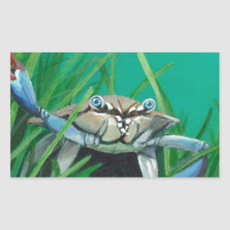 Ahoy There Meet The Under Water Sea Crab Rectangular Sticker