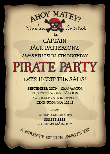 60 off pirate birthday invitations shop now to save zazzle ahoy treasure map pirate birthday party invitation filmwisefo