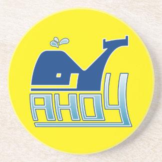 Ahoy Whale Coasters