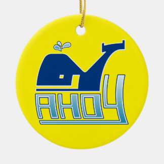 Ahoy Whale Ornament