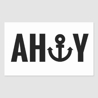 Ahoy with anchor sticker