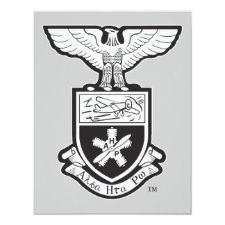 AHP Crest - B&W 4.25x5.5 Paper Invitation Card